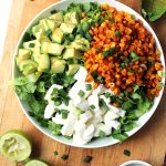 Smoky oven grilled corn & mozzarella salad with honey lime dressing