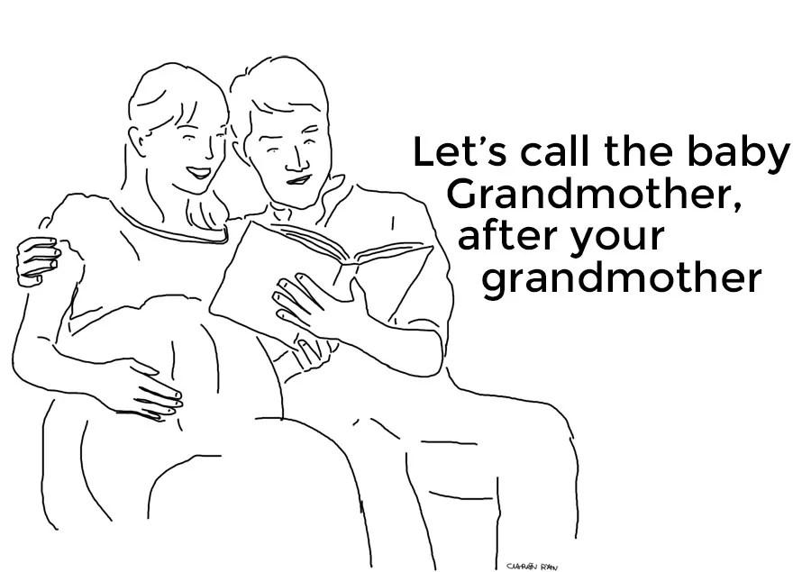 Baby name cartoon
