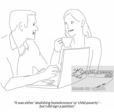 Internet activism - e-petition cartoon