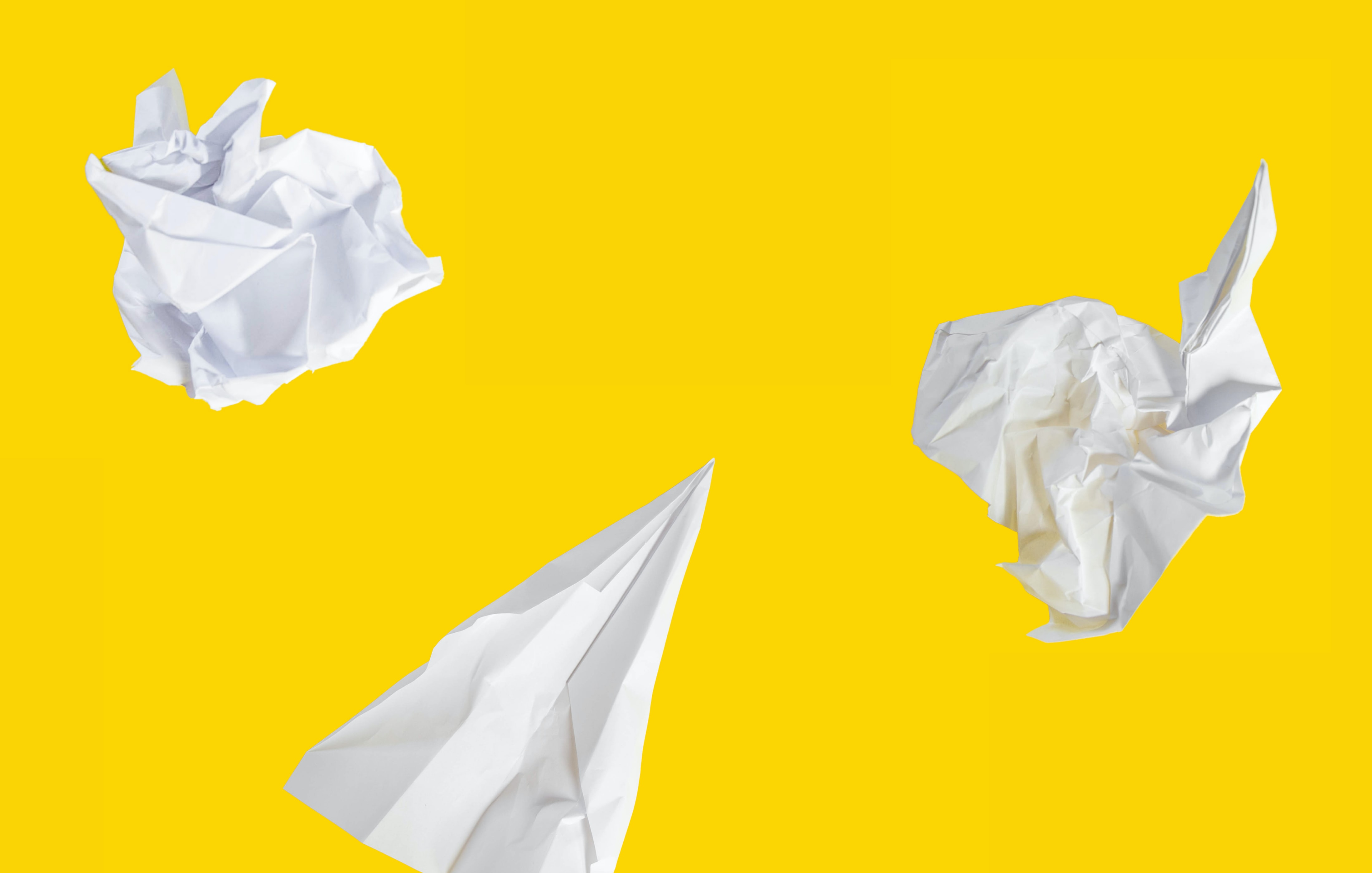 yellow background and paper