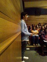 Daniel do 10.ºano lê Eugénio de Andrade
