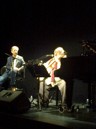 O Professor Luís Ângelo e o cantor Pedro Barroso.