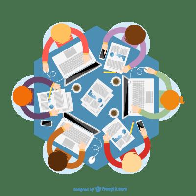 reunión de contenidos
