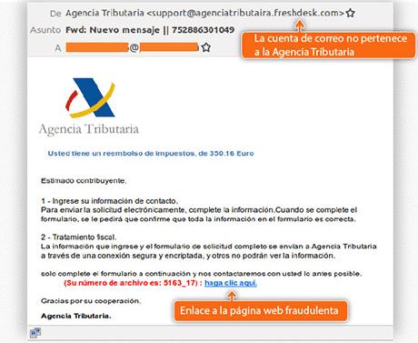 Phishing Agencia Tributaria Hacienda