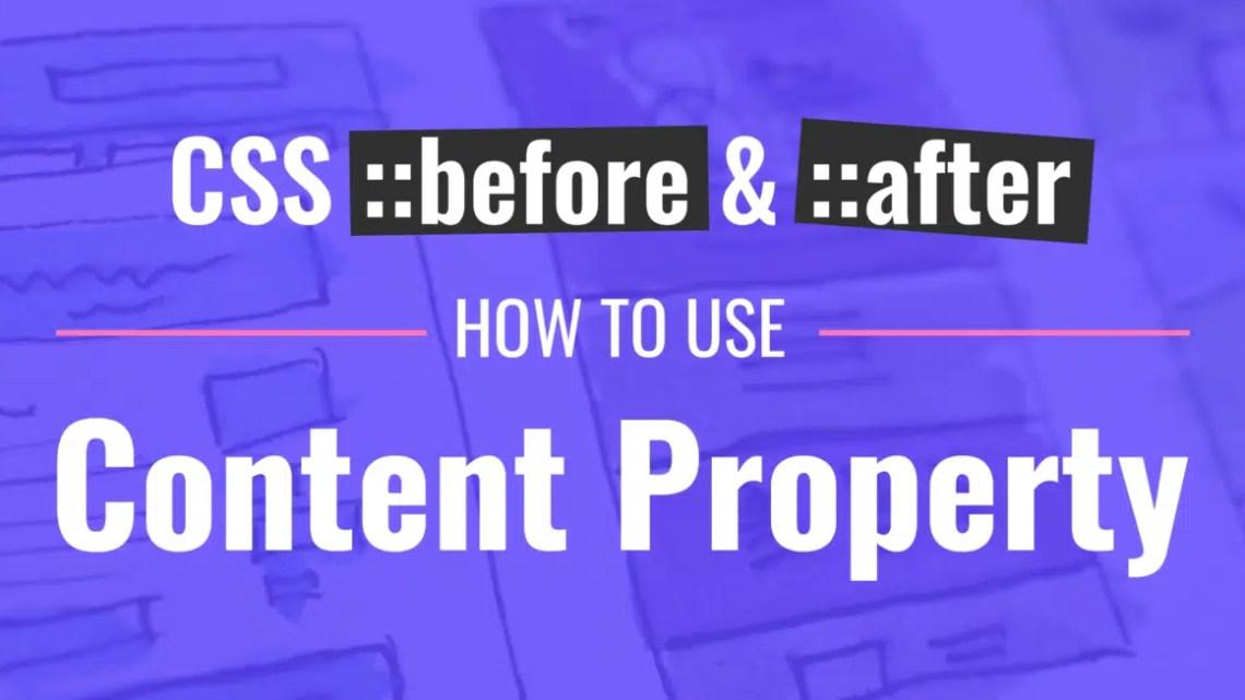 CSS Antes e CSS Depois – Como usar a propriedade Content