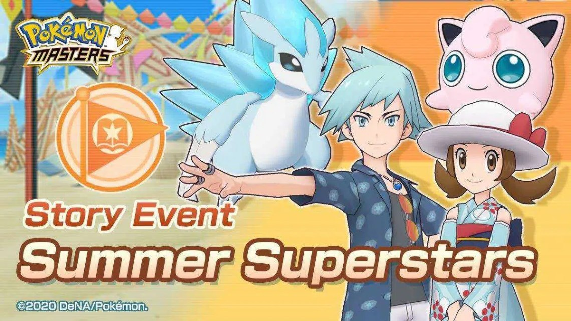 Evento mais recente de Pokemon Masters, Summer Superstars, Is Live