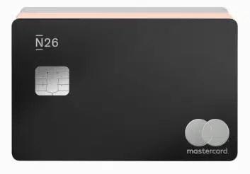 imagem do cartão da conta do banco n26 portugal business metal