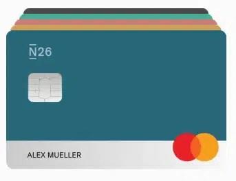 imagem do cartão da conta do banco n26 portugal business you
