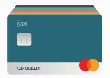 imagem do cartão da conta do banco n26 portugal you