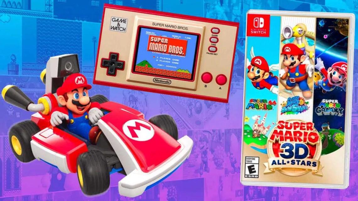 Todos os produtos do 35º aniversário do The New Super Mario: preço, encomendas e muito mais