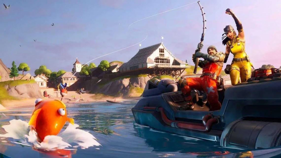 Os jogadores da 4ª temporada do Fortnite querem pescar em paz