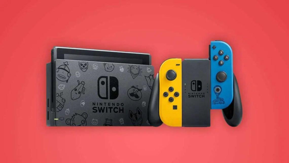 Edição limitada do console do Nintendo Switch Fortnite em outubro