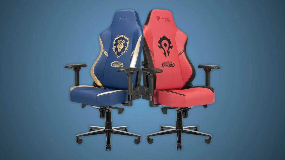 As novas cadeiras do World Of Warcraft da Secretlab permitem que você escolha Alliance vs.  Horda de novo