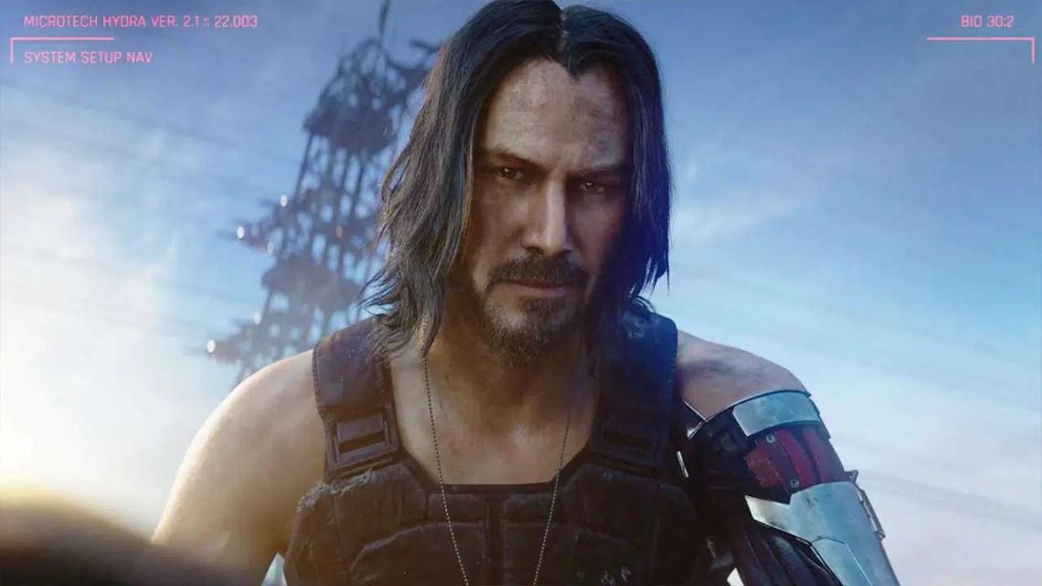 Cyberpunk 2077 Trailer em destaque Keanu Reeves, personagem Johnny Silverhand
