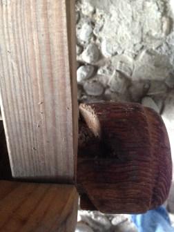 Ponte Valtellina - Ventilabro dettaglio ingranaggio in legno