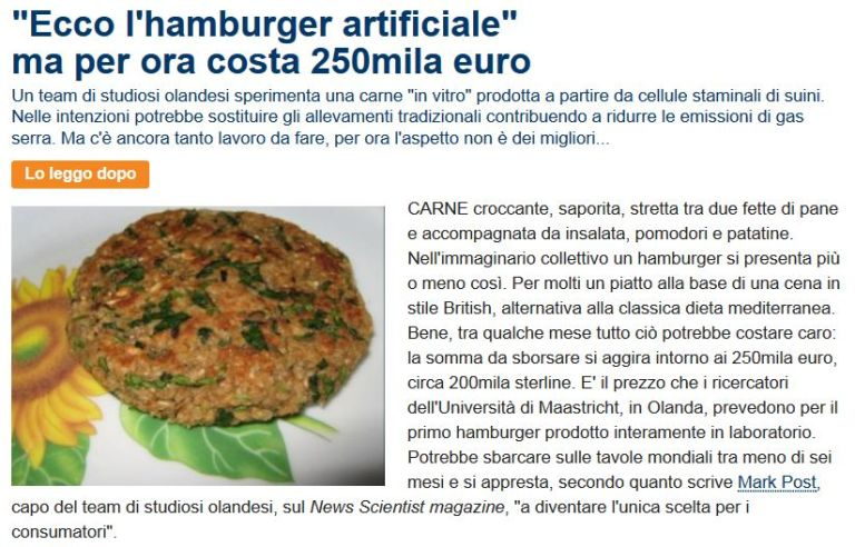 Hamburger Artificiale da Repubblica