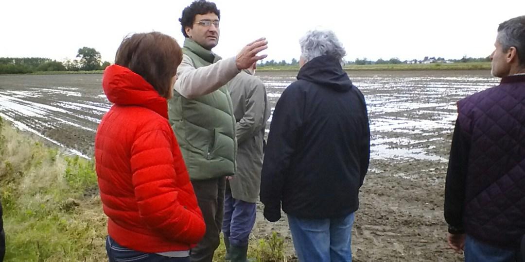 Giuseppe Oglio visita guidata alla risaie di Cascina Casalina