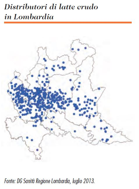 Mappa Distributori Latte Crudo In Lombardia Luglio 2013