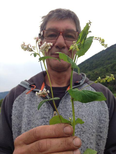 Patrizio MAzzucchelli con i due grani saraceni