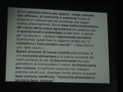 Sovranita Alimentare a Milano - Presentazione Giorgio Ferraresi