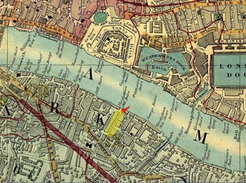 1850 London bermondsey Cross Map (see Evernote)