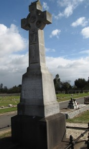 Monument at grave site of James GIBNEY and his wife Margaret GIBNEY nee RICE