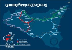 mappa cammini francigeni di sicilia