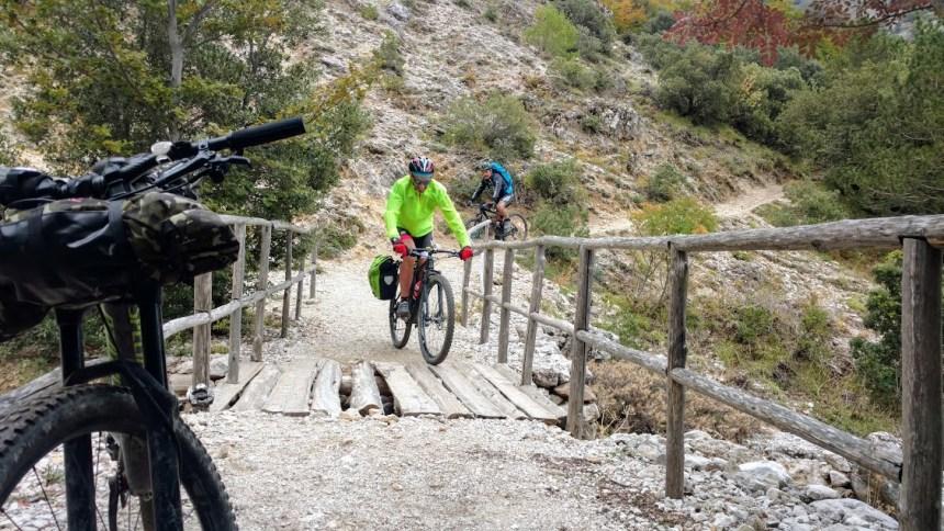 itinerario in mountain bike impegnativo