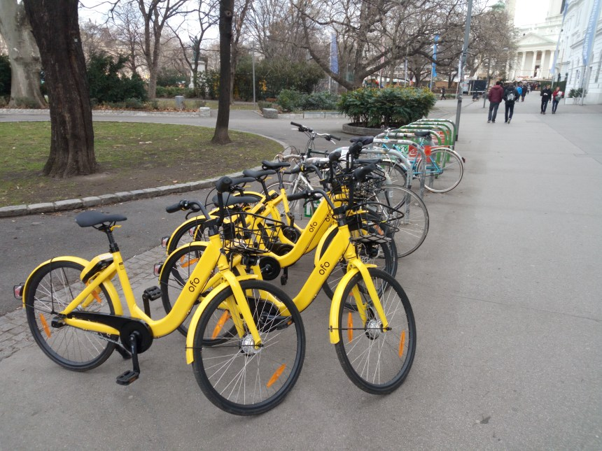 free floating ofo bike a vienna