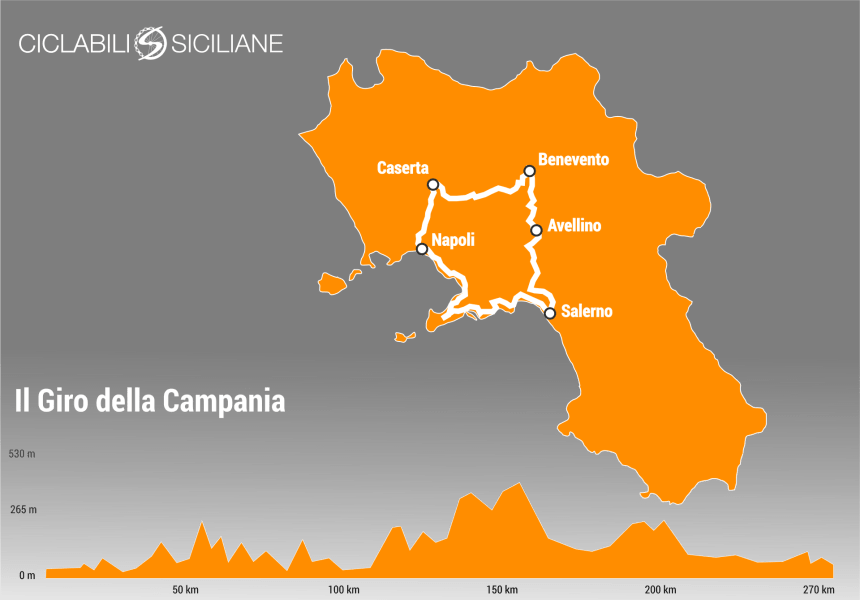 bike tour in campania