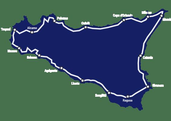 itinerario cicloturistico il giro della Sicilia in bici