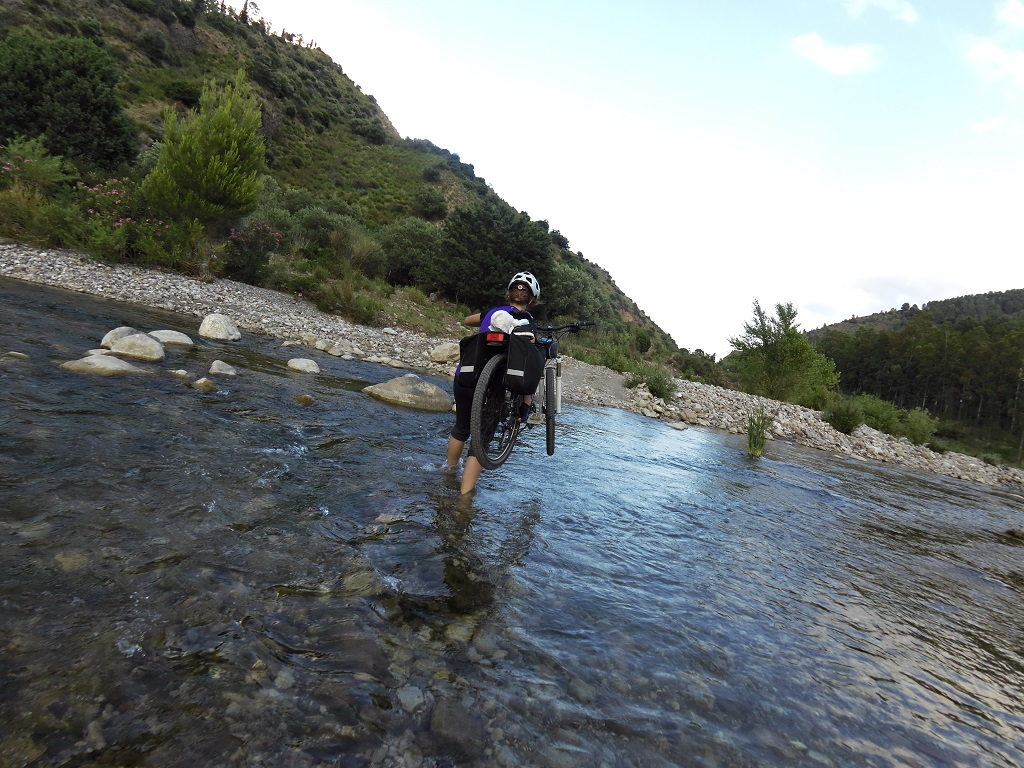 River Crossing in the Madonie Mountains in Sicily by bike