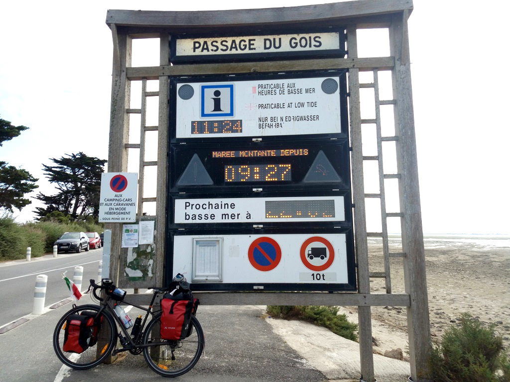 display delle maree passage du gois