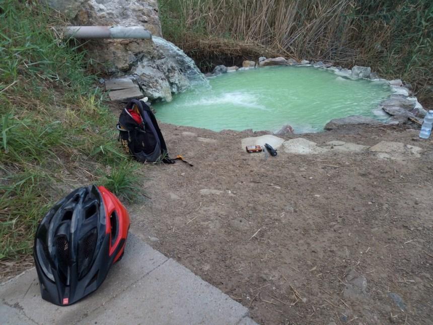 free thermal bath in Sclafani Bagni