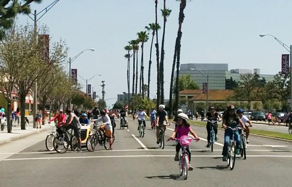 Long Beachers celebrating the 1st Beach Street event in 2015