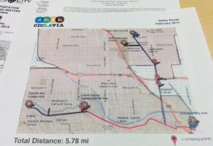 This was a preliminary map of the Valley CicLAvia