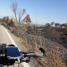 Resquícios dos incêndios recentes