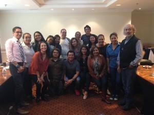 Comunicadores del Tercer Ciclo de Actualización para Periodistas en temas de seguridad y justicia