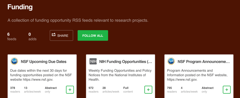 Feedly Funding Feeds