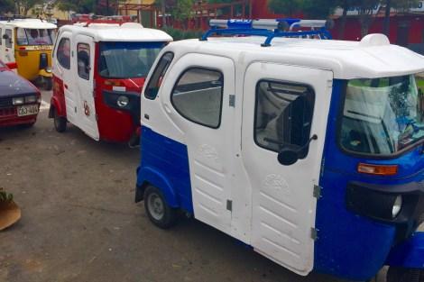 Moto taxi típico das cidades peruanas