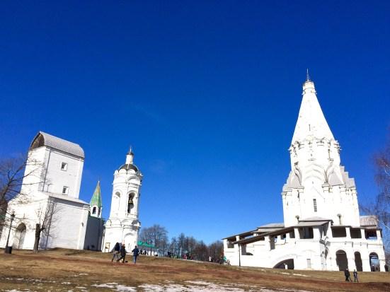 Igrexa da Ascensión, campanario de San Xurxo e Torre da Auga á súa esquerda