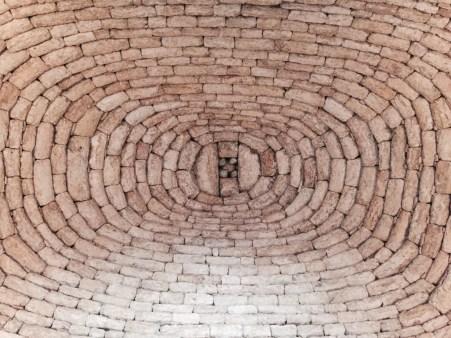 Cara interior do teito do bombo