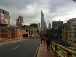 Polas rúas de Bogotá