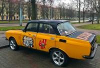 Coche reinvindicativo na cidade de Brest (Bielorrusia)