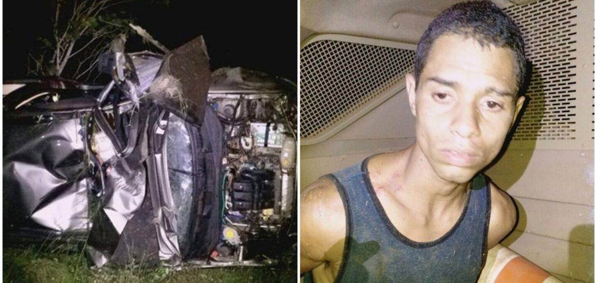 Carro de vice-prefeito do Piauí é tomado de assalto e tomba com bandido na PI-366
