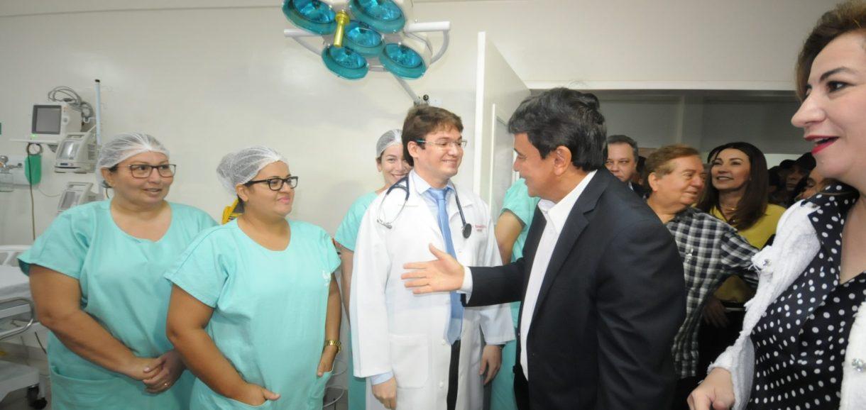 Em Picos, governador Wellington inaugura 10 leitos de UTI no Hospital Justino Luz
