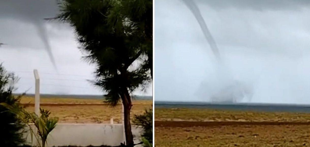Litoral do Piauí registra tromba d'água; meteorologista explica o fenômeno