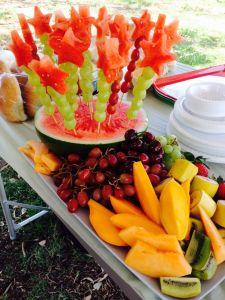 mesa de frutas como montar