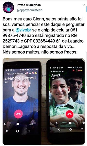 """MAMÃE ME ACODE! """"Pavão Misterioso"""" invade celulares de envolvidos nos crimes contra Moro e Dallagnol: Freixo, Pimenta, David Miranda, Jean Wyllys, Glen Greenwald e Demori"""
