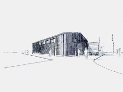 Architect's drawing of the proposed cider barn at Deer Park